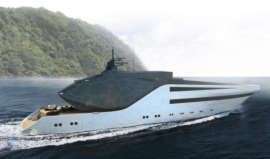 Anaconda Yacht - Profile View
