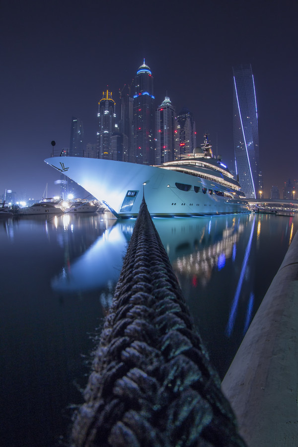2014 Dubai Inernational Boat Show.  Photo of QUTROELLE By Ibrahim Albeshari.